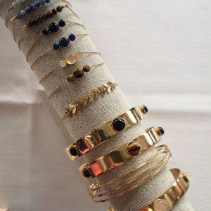 Bracelets fantaisie dorés à l'or fin