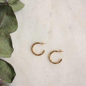 créoles Esméralda dorées à l'or fin