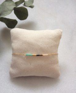 bracelet doré à l'or fin et perles de verre Miyuki